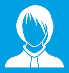 Woman icon white vector
