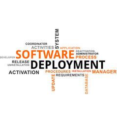 Word cloud - software deployment vector