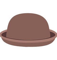 Brown hat vector image