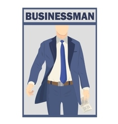 Elegant businessman in suit isolated on white vector