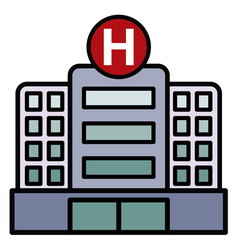 large hospital building vector image vector image