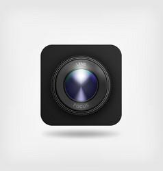 lens of camera symbol vector image