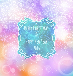 New Years color shining background with a vector image vector image