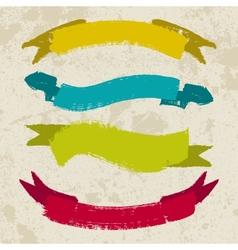 Set of grunge ribbons vector image vector image