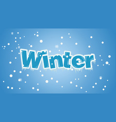 winter font style vector image
