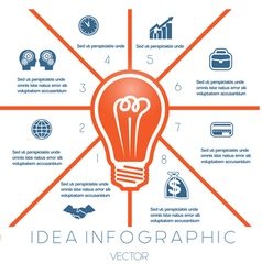 Business Concept Light bulb infographic 8 vector image vector image