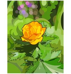 orange flower forest vector image vector image