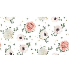 seamless pattern floral watercolor design garden vector image vector image