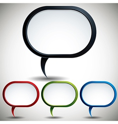 Abstract modern style speech bubble vector image