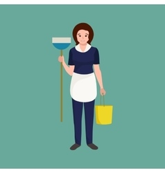 Housewife girl homemaker cleaning woman Peoples vector image