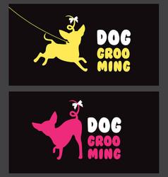 Logo for dog hair salon dog beauty salon pet vector