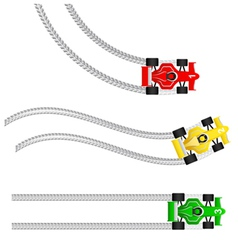 race cars with various tyre treads vector image vector image