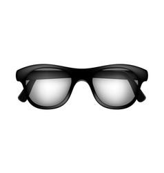 retro glasses in black design vector image