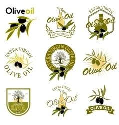 Extra virgin olive oil labels Design element for vector image