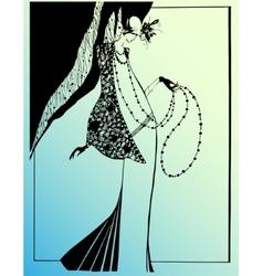 Fashion retro sketch vector image