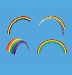 rainbow collection vector image vector image