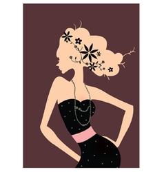 Retro Fashion Poster vector image vector image