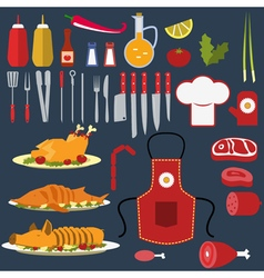 Set of the cooking objects vector image