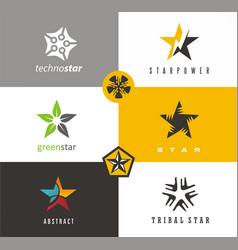 018starset of star symbol design of star vector image