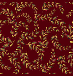 A repeating pattern small leaves prints vector