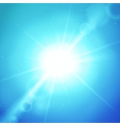 Abstract background with sun and lens vector