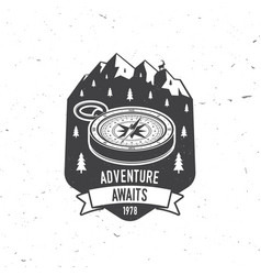 adventure awaits camping quote vector image