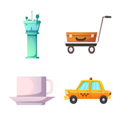 airport and airplane icon vector image