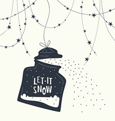 Bank and phrase let it snow123 vector image