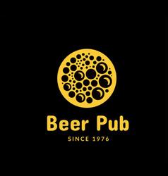 beer pub logo vector image