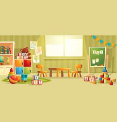 cartoon interior kindergarten room vector image