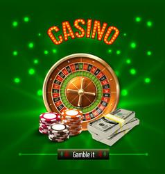 Casino realistic concept vector