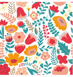 colorful floral pattern seamless pattern vector image