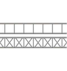 creative of steel truss girder vector image