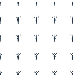 dancing woman icon pattern seamless white vector image