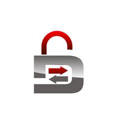 data exchange management secure vector image