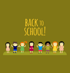 different pupils kids back to school vector image