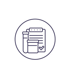 doping control line icon vector image