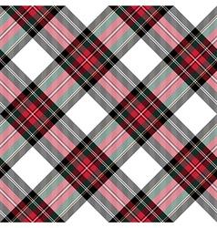 Dress stewart tartan seamless pattern diagonal vector