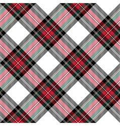 dress stewart tartan seamless pattern diagonal vector image