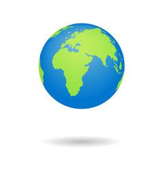 earth globus map 3d globe icon world symbol vector image