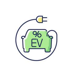 Electric car tax credit rgb color icon vector