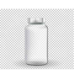 Empty ampoule for medicine vaccine on transparent vector