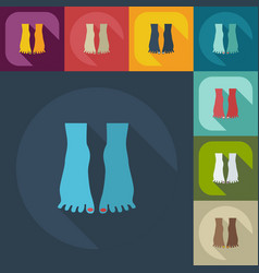 Flat modern design with shadow icons pedicure vector