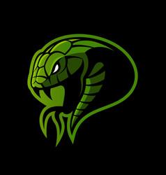 Furious green snake sport logo concept vector