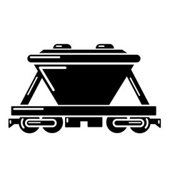 goods train icon simple style vector image