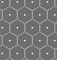 Gray small hexagons forming big hexagons vector