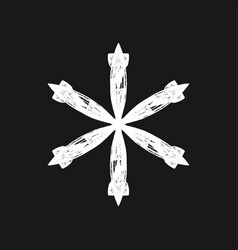grunge isolate snowflake vector image