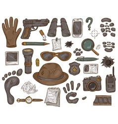 Hand drawn set of with vector