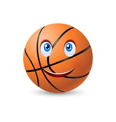 Happy basketball ball vector image