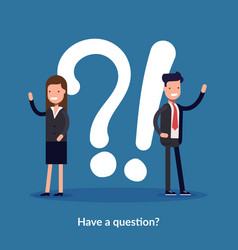 have a question concept vector image